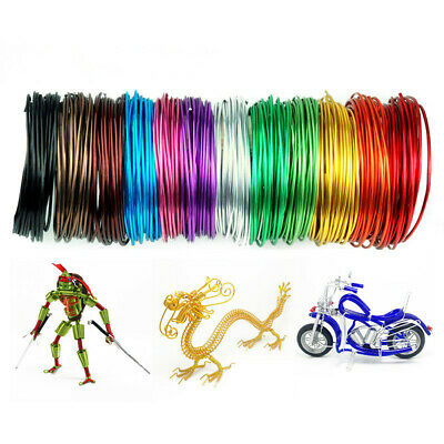 1mm 5M Aluminum Wire Jewelery Craft Wrap Metal Cord Ornament Making 14Colors