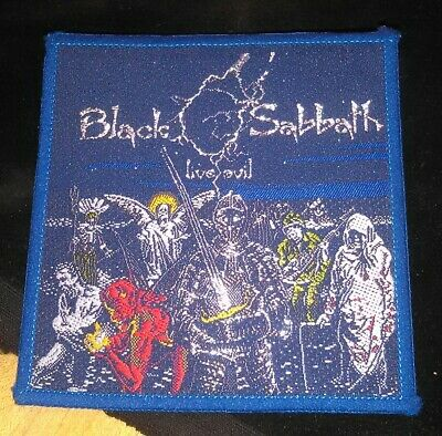 Rare Vintage Original BLACK SABBATH LIVE EVIL patch dio,tony iommi,tour,lp,cd,7""