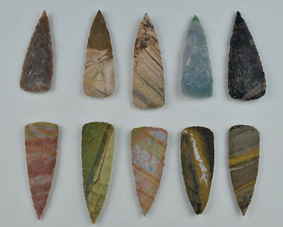 "**One 3"" Avg Flint Spear Point Arrowhead Project Art Knife Blade Lot DD**"