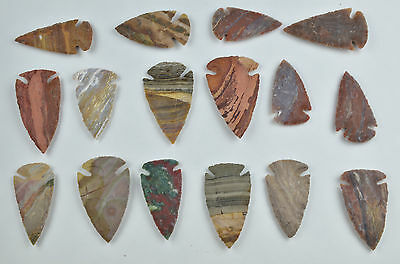"**One 3"" Avg Flint Spear Point Arrowhead Project Art Knife Blade Lot JJ**"