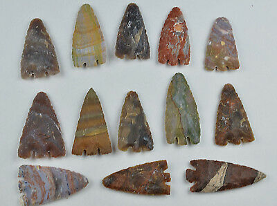 "**One 3"" Avg Flint Spear Point Arrowhead Project Art Knife Blade Lot CC**"