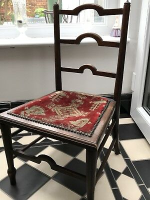 Vintage 18th Century Child's Oak Chair PROJECT UPHOLSTERY