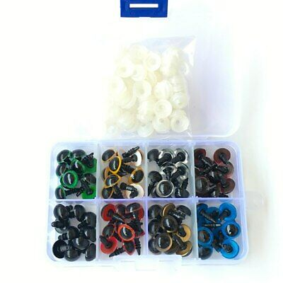 New DIY Chicest 80Pcs/40Pairs 8 Color-Mix 10mm Safety Eyes Box for Teddy Bear