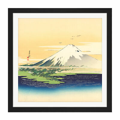 Mount Fuji Japan Square Framed Wall Art 16X16 In