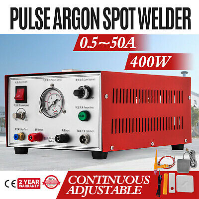 Pulse Argon Spot Welder 400W Welding Jewelry Gold Silver Platinum Palladium