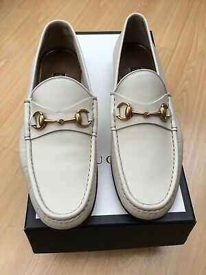 a3c762423 GUCCI MEN'S 1953 Loafer Size 10.0 Green Nubuck Leather Gold Horsebit ...