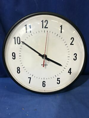 """12"""" Simplex 6310-9231 Clock Schoolhouse Electric Hanging Wall Plastic Face"""