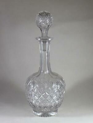 Stunning Quality Antique 19Th Century Crystal Cut Glass Decanter