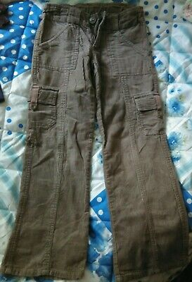 Pumkin patch girls brown cord trousers age 7