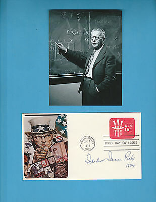 Isidor Rabil (Nobel Prize Physic 1944) Signed First Day Cover With Photograph
