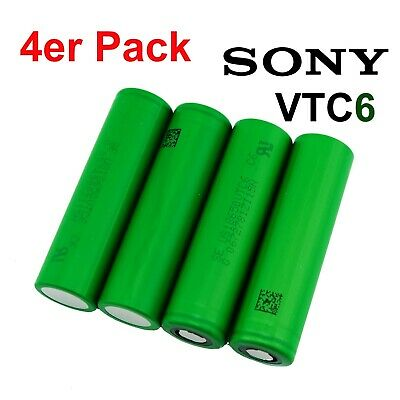 4 x Original Sony Konion US18650 VTC6, 30A, 3120mAh Li-Ion Akku 18650 + Akkubox