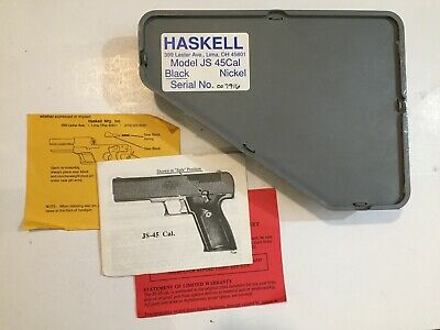 NOS Haskell Firearms JS45 7 Rd Caliber 45 Old Style Alloy Frame Pistol Magazine