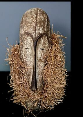 Old  Tribal Fang Ngil Society Mask   -  Gabon BN 11