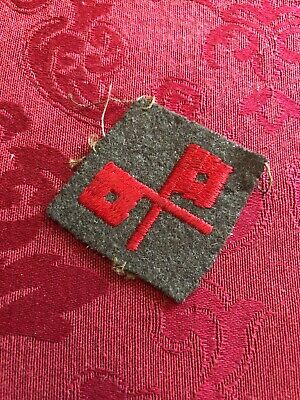 Antique Vintage Signal Corps Patch Red Crossed Flags Civil War ? Military