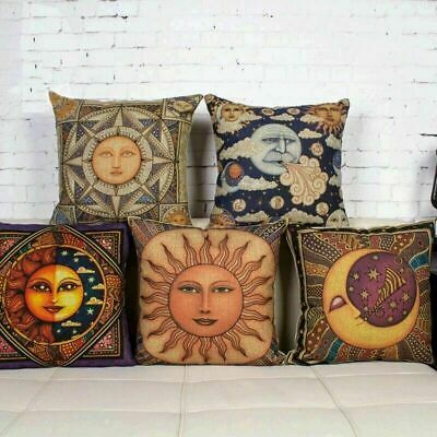 "18"" Ancient Egyptian Murals Cushion Cover Sofa Decor Pillow Case Square Linen"