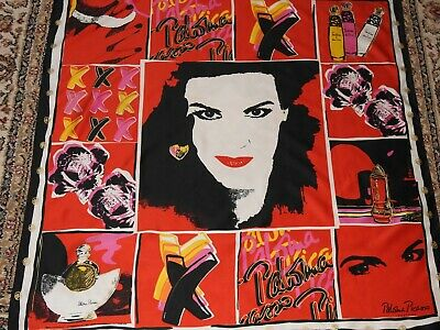 Vintage 1980's/90's Extra Large Red, Black & White Paloma Picasso Promo Scarf