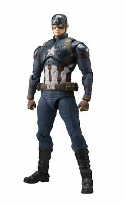 New Bandai S.H. Figuarts Captain America Avengers End Game  Figure 5.9in PVC ABS