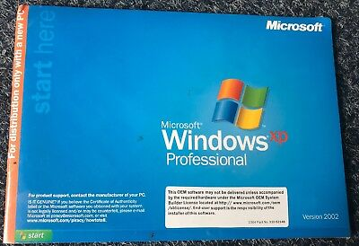 MICROSOFT WINDOWS XP PROFESSIONAL w/SP2 FULL OPERATING SYSTEM New W/Key LWST PRC