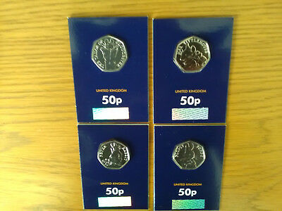 beatrix potter fifty pence coins 2018 full set of 4 certified-bu 50p coins.