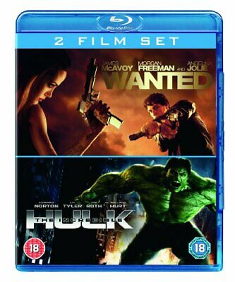 Wanted/The Incredible Hulk [Blu-ray] - DVD  CYLN The Cheap Fast Free Post