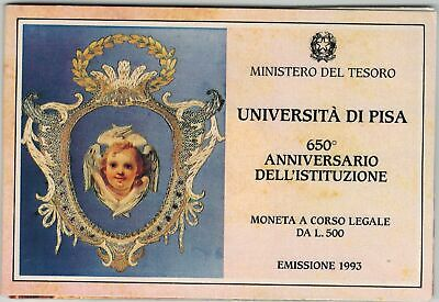 ITALIA 1993 Università di Pisa moneta L.500 in Argento FDC / P20118