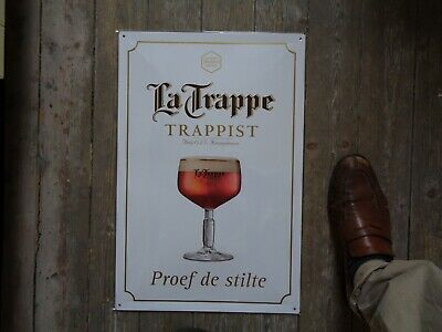 Trappist La Trappe reclame beer sign metal new  in blister proef de stilte