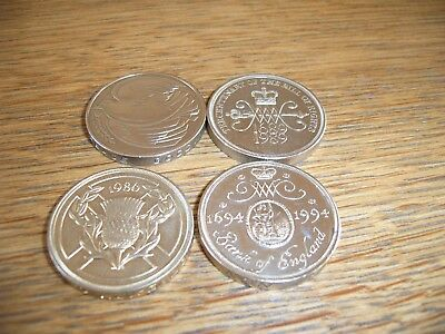 X4 Old Style £2 Two Pound Coins