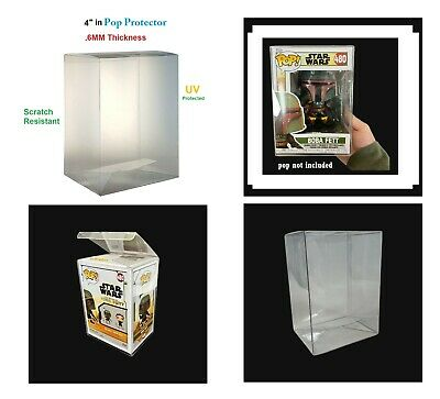 """Lot of 20 - Display box 4"""" inches .5mm Pop Protector for Collectible Figures"""