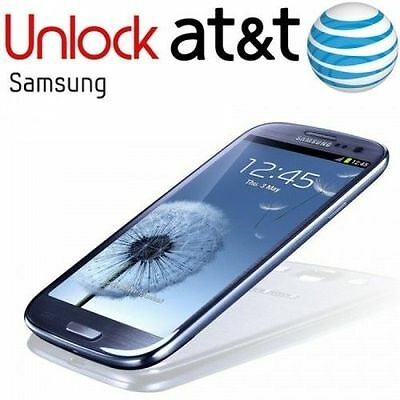 UNLOCK SERVICE/CODE FOR AT&T SAMSUNG GALAXY S3,S4,S5,S6,S7 ,S8 NOTES Clean
