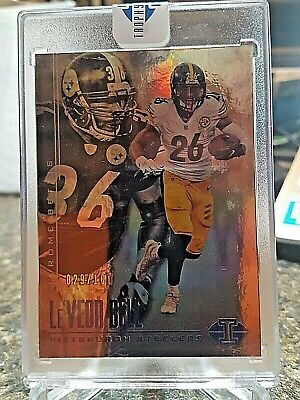 61ecdc47bfc 2017 Illusions LeVeon Bell / Jerome Bettis PITTSBURGH STEELERS Refractor  /100