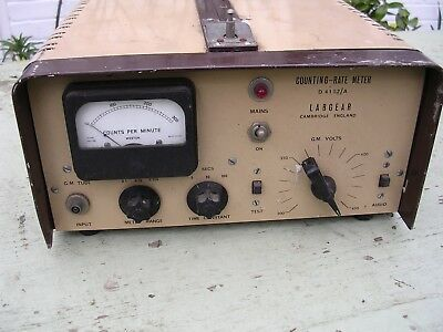 Geiger Counter Labgear Count Rate Radiation Detector Vintage Scientific