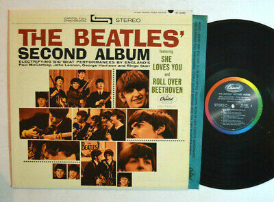 ROCK LP - THE BEATLES SECOND ALBUM Stereo st 2080 Rainbow band VG++
