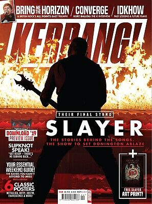 Kerrang 1777 15th June 2019 SLAYER cover Ready to send today!!!!!