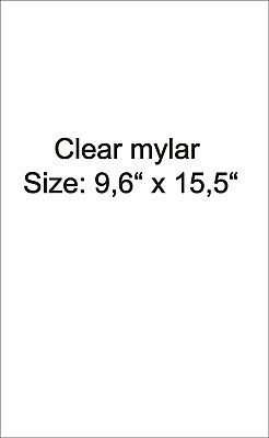 One Sheet of clear mylar (uncutted) - protect you pinball playfield