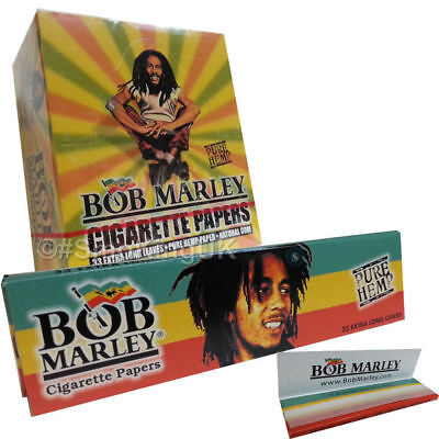 Bob Marley King Size Pure Hemp Paper Rizla Smoking Rolling Papers Natural Gum