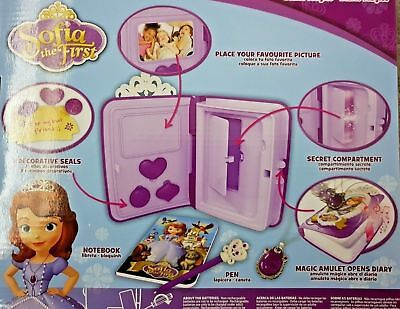 Disney Sofia the First Secret Magic Diary Light & Sound 6 + Accessories NEW BOX