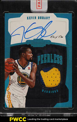 2018 Panini Dominion Peerless Kevin Durant AUTO 2-CLR PATCH 1/1 #PJ-KDR (PWCC)