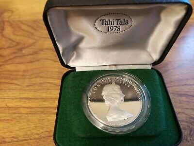 1978 Tokelau silver proof $1 Tahi Tala coin : 26.5g