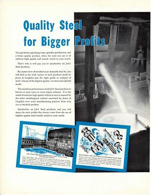 1936 Vintage print ad Jones & Laughlin Steel Corp It went That way Quality 2 pag