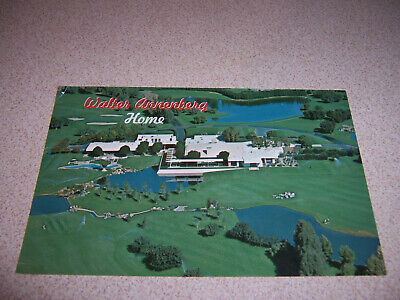 1970s WALTER ANNENBERG ESTATE MANSION HOME PALM SPRINGS CA. VTG POSTCARD
