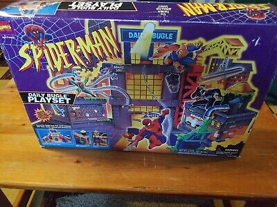 Spider-Man The Animated Series Daily Bugle Playset Toy Biz 1994 Marvel 47400
