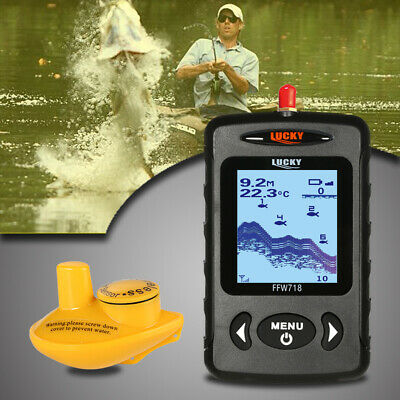LUCKY Portable Professional Sounder Wireless Sonar Fish Finder Fishing I3V4