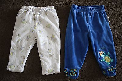 2 x Baby Boys Pants - Pumpkin Patch / Baby Einstein - Size 00