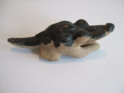 PreColumbian Vera Cruz terracotta Alligator whistle 600 AD