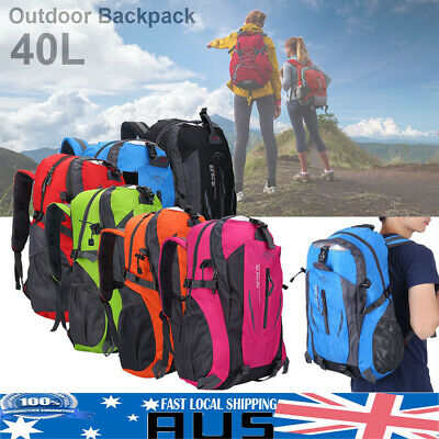 40L Large Outdoor Waterproof Hiking Camping Bag Travel Backpack Luggage Rucksack