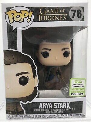 Funko Pop! Game of Thrones #76 ARYA STARK 2019 Spring Convention Exclusive