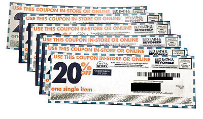 Lot of 6 20 % off Bed Bath and Beyond coupons