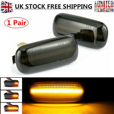 2X For Audi A3 S3 8P A4 A6 Dynamic LED Sequential Side Indicator Smoked Amber