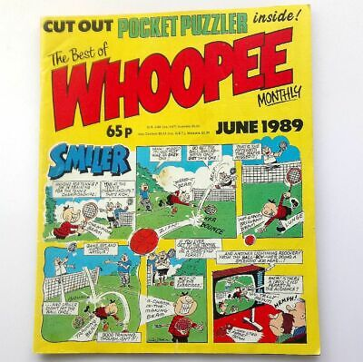 The Best of Whoopee Monthly June 1989 Childrens Kids Humour Humour Comic  UK
