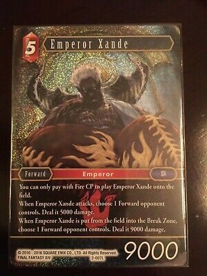 Foil Emperor Xande 2-007L NM Near Mint Final Fantasy TCG FFTCG Opus II 2